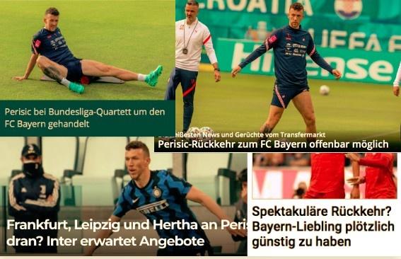 德甲今日头版:拜仁也有意佩里西奇 穆勒相信德国队能夺冠