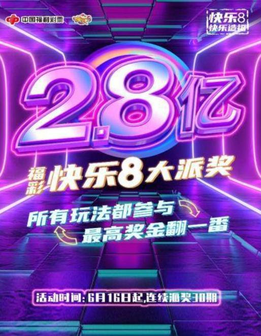 奖金提升!中福彩:快乐8游戏首次全国派奖活动即将开启