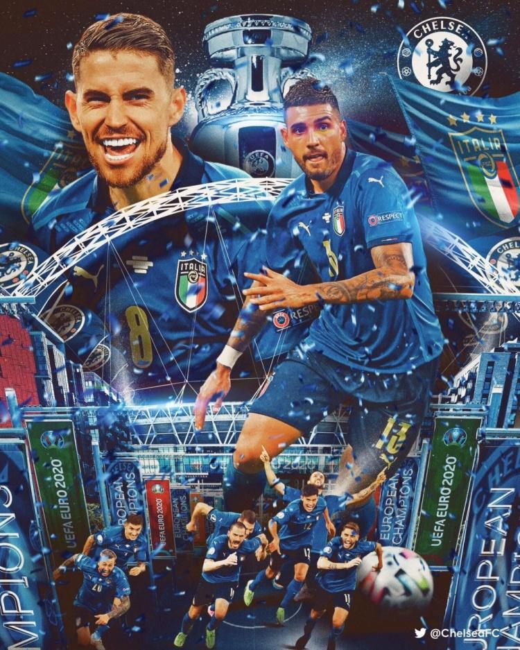 双冠加冕🏆!若日尼奥、埃莫森喜提本赛季欧洲杯+欧冠冠军