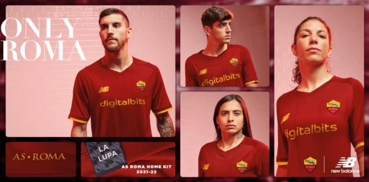 罗马发布新赛季主场球衣:深红色为主色调,同时黄色作为搭配