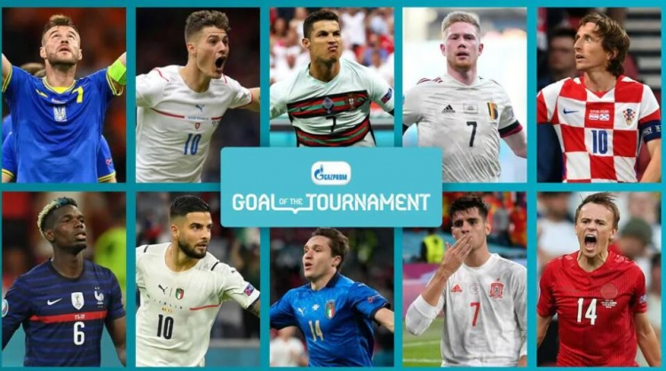 欧洲杯官方最佳进球10大候选:希克超远吊射,C罗、莫德里奇在列